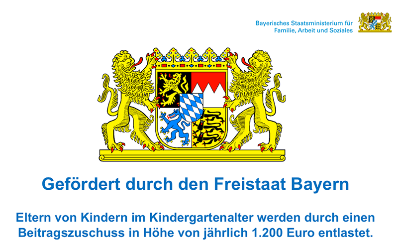 Föderung durch den Freistaat Bayern